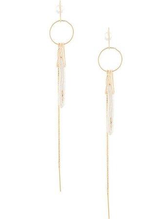 Petite Grand Circle Shell Earrings