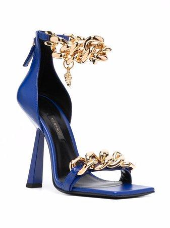 Versace chain-embellished Medusa Sandals - Farfetch