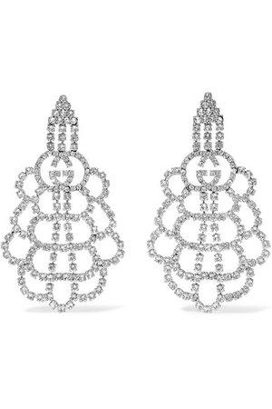 Gucci   Palladium-tone crystal earrings   NET-A-PORTER.COM