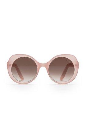 Lapima Carlota Round-Frame Acetate Sunglasses