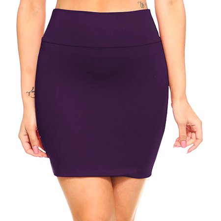 Fashionazzle - Fashionazzle Women's Casual Stretchy Bodycon Pencil Mini Skirt - Walmart.com - Walmart.com
