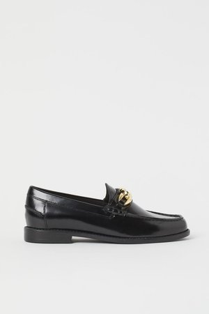 Leather loafers - Black - Ladies | H&M GB