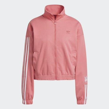 adidas Adicolor 3D Trefoil Track Jacket - Pink   adidas US