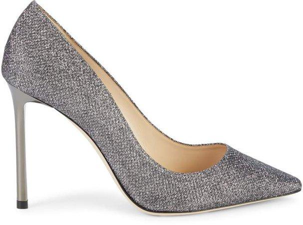 Glittered Stiletto Heel Pumps