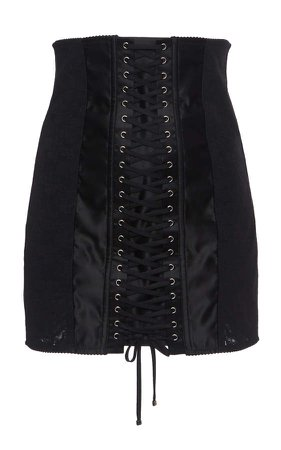 Dolce & Gabbana Lace-Up Mini Skirt