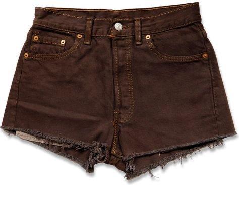vintage levis brown denim shorts