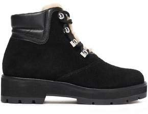 Dylan Shearling-lined Suede And Leather Ankle Boots