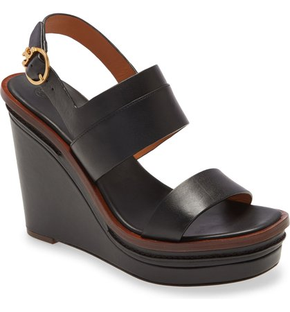 Tory Burch Selby Wedge Sandal (Women) | Nordstrom