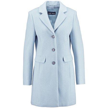Gerry Weber Light Blue Long Wool Coat | Pamela Scott