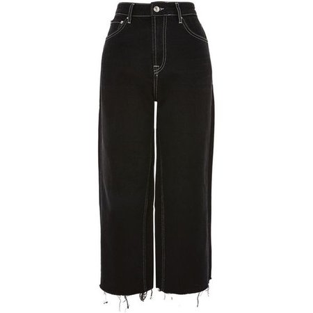 Topshop Moto Cropped Wide Leg Jeans