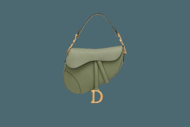 SADDLE BAG Green Grained Calfskin