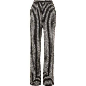 Naeem Khan   Embellished silk-satin flared wide-leg pants