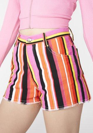 Cute Mistake Speakerboxx Denim Shorts   Dolls Kill