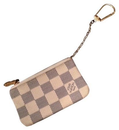 Louis Vuitton White Damier Ebene Canvas Key Cles Coin Pouch Wallet - Tradesy