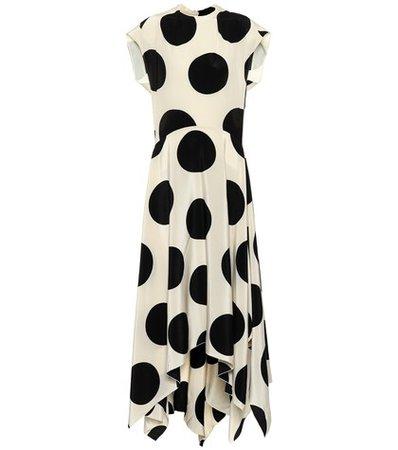 Daly polka-dot silk gown