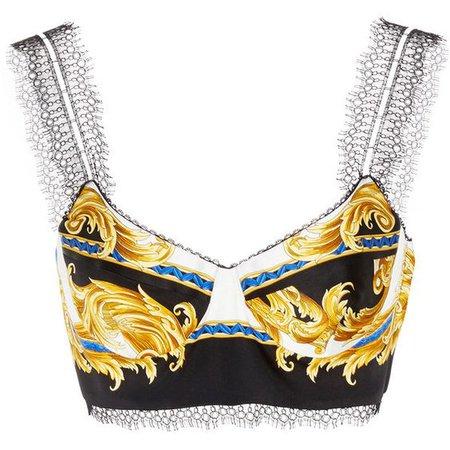 Versace Lace Trim Bra Top