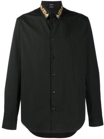 Versace Camisa Com Colarinho Bordado - Farfetch