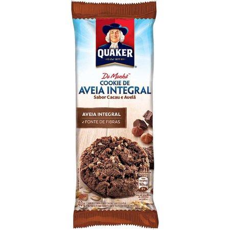 Cookies de Aveia Integral Sabor Cacau e Avelã Quaker 40g - Mambo Delivery