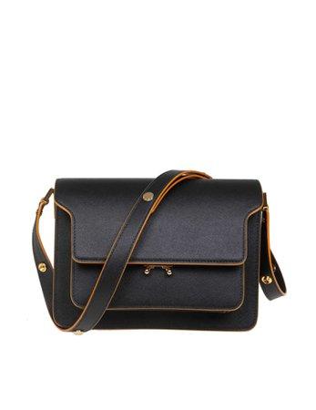 Marni Trunk Bag Bag In Black Leather