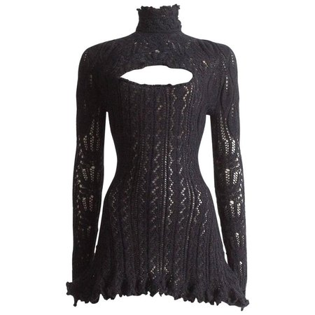 Vivienne Westwood knitted mini dress with internal corset, A/W 1993