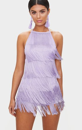 Lilac Tassel Playsuit | Jumpsuits & Playsuits | PrettyLittleThing