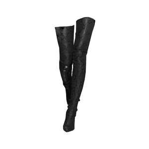 Black Over The Knees Boot PNG