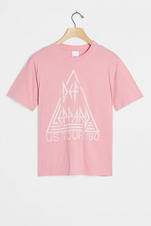 Def Leppard Graphic Tee   Anthropologie