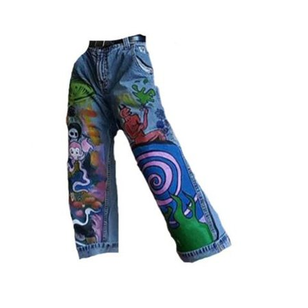 png shoes aesthetic jeans with paint