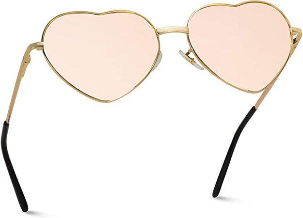 Pink Heart-Shaped Sunglasses