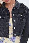 Distressed Denim Jacket   Forever 21