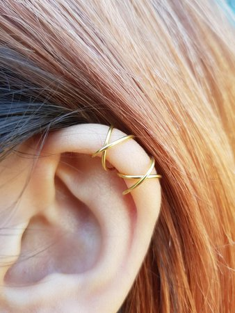 Two Criss cross Ear Cuffs