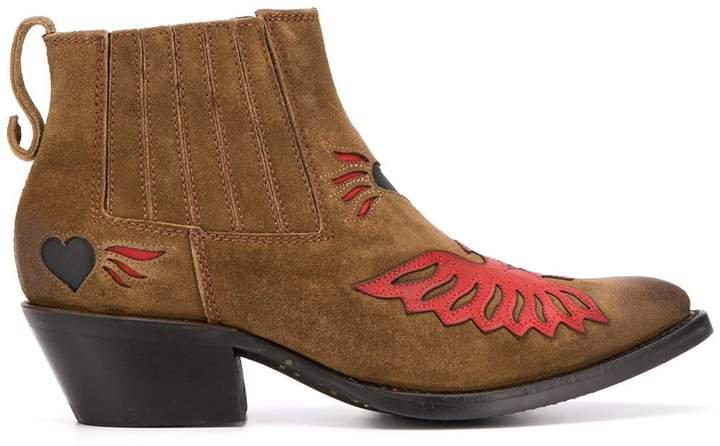 Paco applique ankle boots