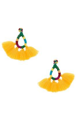 All Things Mochi Hallu Earrings in Yellow   REVOLVE