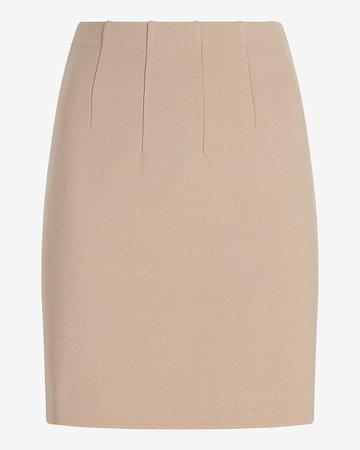High Waisted Straight Mini Skirt | Express