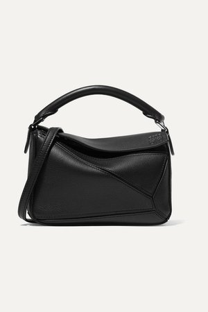 Loewe | Puzzle mini textured-leather shoulder bag | NET-A-PORTER.COM