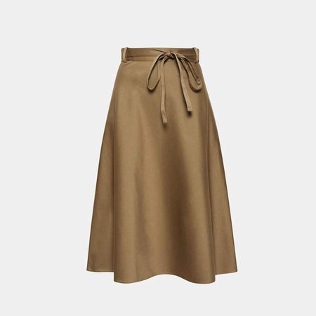 Workwear Wrap Skirt