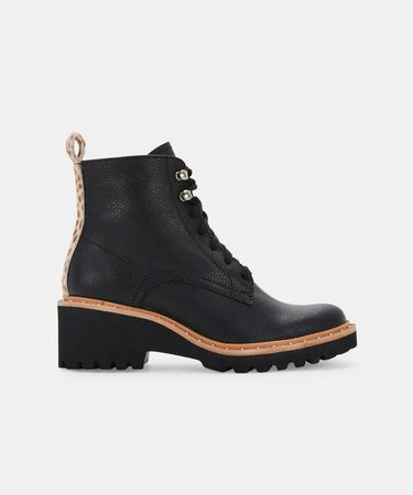 HINTO BOOTS IN BLACK LEATHER – Dolce Vita