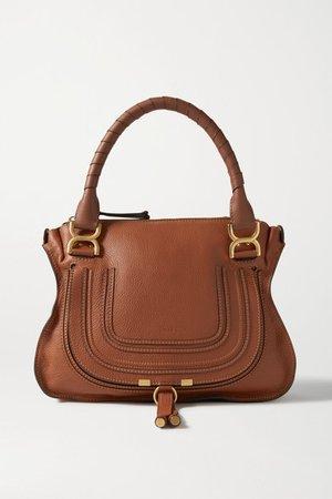 Marcie Medium Textured-leather Tote - Tan