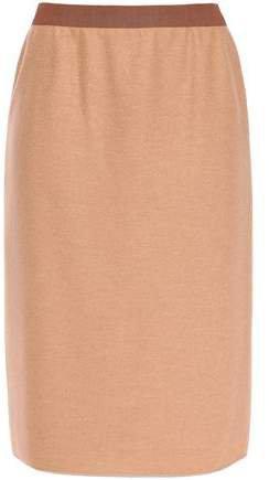 Melange Wool Pencil Skirt