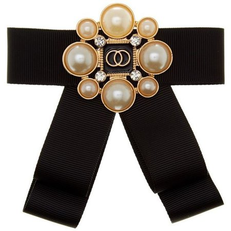 Cara Accessories Pearl Bow Brooch