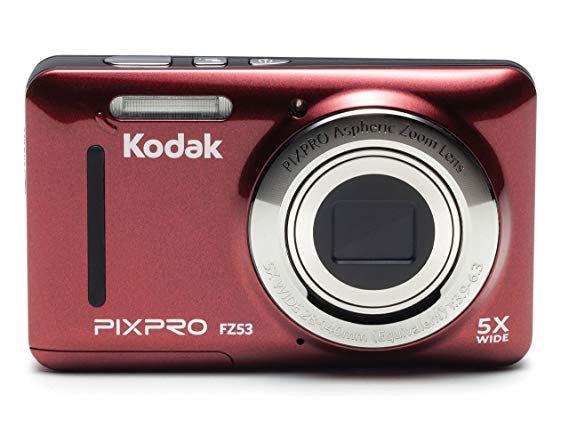 "Kodak PIXPRO Friendly Zoom FZ53-BK 16MP Digital Camera with 5X Optical Zoom and 2.7"" LCD Screen"
