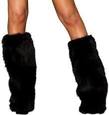 black fur leg warmers - Google Search