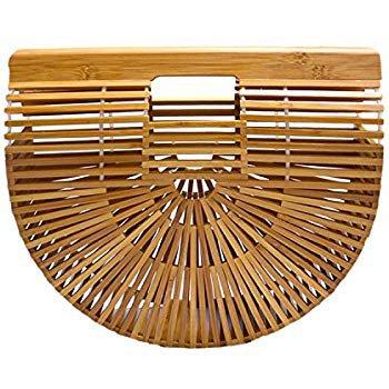 Amazon.com: Vintga Bamboo Handbag Handmade Tote Bamboo Purse Straw Beach Bag for Women (Bamboo Small): Shoes