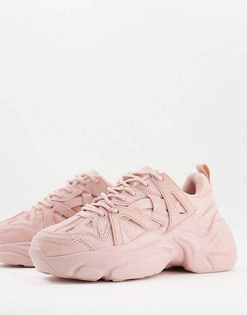 ASOS DESIGN Deejay chunky sneakers in pink | ASOS