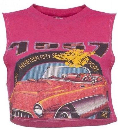 1957 Car Tank Crop Top
