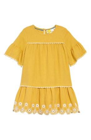 Mini Boden Drop Waist Embroidered Dress (Toddler Girls, Little Girls & Big Girls) | Nordstrom