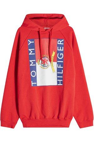 x Tommy Hilfiger Printed Cotton Hoody Gr. L