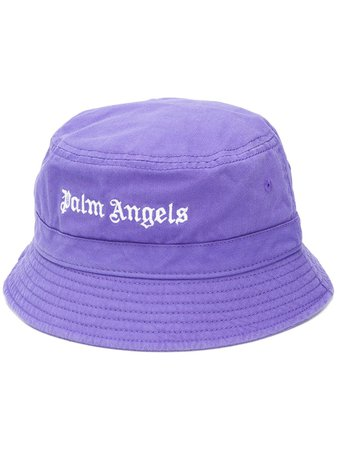 Palm Angels logo-embroidered Bucket Hat - Farfetch