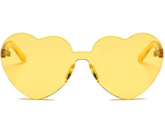 yellow heart glasses