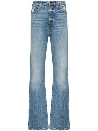 Blue Khaite Danielle straight leg jeans 1032059100CODENIMBOIS - Farfetch